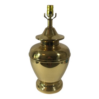 Vintage Brass Ginger Jar Lamp