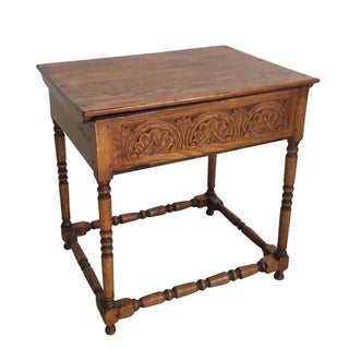 Carved Oak Bible Table
