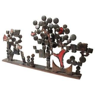Midcentury Brutalist Tabletop Landscape Sculpture