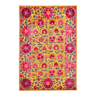 """Suzani Hand Knotted Area Rug - 6' 3"""" X 9' 4"""""""