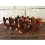 Image of Handmade Thanksgiving Turkey Napkin Rings - S/8
