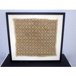 Image of Framed African Kuba Cloth Decorative Textile