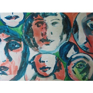 Acrylic Painting of Faces