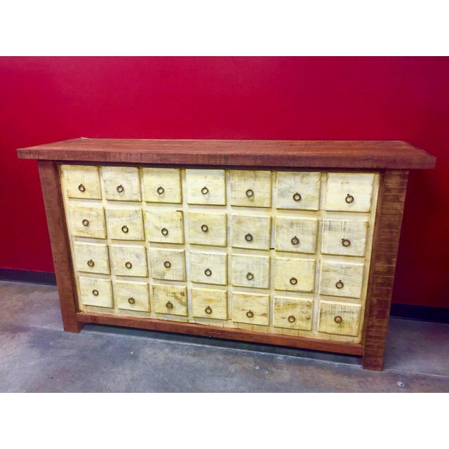 Antique Apothecary Cabinet - Eco-Friendly Reclaimed Solid Wood - Image 2 of 3
