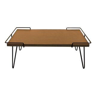 Mid Century Modern Laminate Table on Hairpin Legs