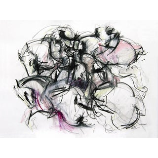Polo Player #4 Abstract Drawing