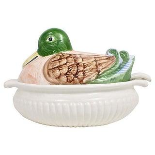 Ceramic Mallard Duck Tureen & Ladle