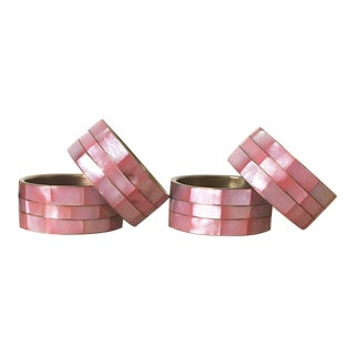 Pink Shell Napkin Rings - Set of 4