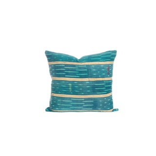 Vintage Blue Ikat Pillow