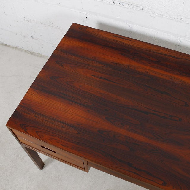 Danish Modern Rosewood Desk by Arne Wahl Iversen - Image 6 of 7