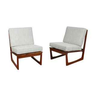 Jacob Kjaer Modern Lounge Slipper Chairs- A Pair