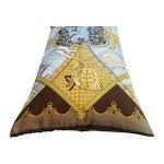 Image of Designer Hermes La Vie a Cheval Silk Scarf Pillow
