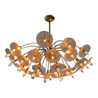 Lightolier Stilnovo Arredoluce Chandelier