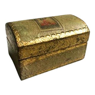Italian Gold Leafed Stamp Box