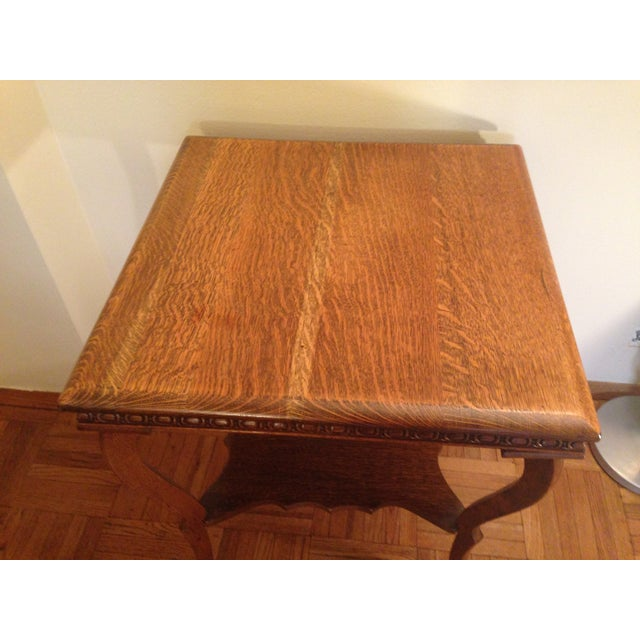 Image of Traditional Golden Oak Swan Table