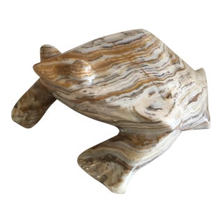 Carved Agate Stone Frog