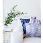 "Image of Navy Diamonds Handwoven Pillow - 18"" X 18"""