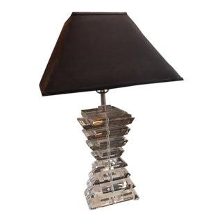 Sharooz Acrylic Clear Table Lamp