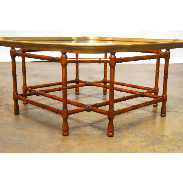 Baker Bamboo And Brass Tray Top Coffee Table Chairish