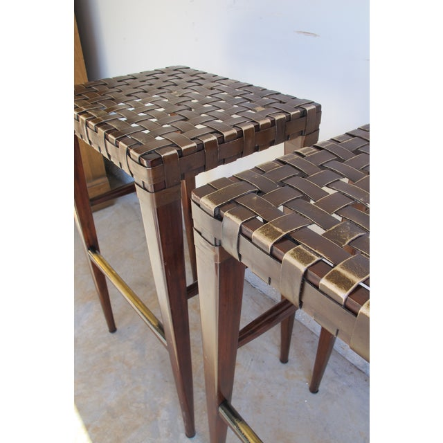Artistica Milo Backless Barstools -- A Pair - Image 10 of 10