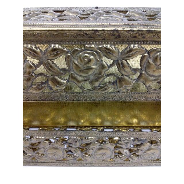 Antique Carved Bronze Metal Tissue Holder - Image 8 of 10
