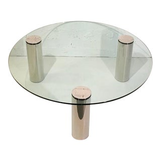 Nickel and Glass Cocktail Table by Pace Collection