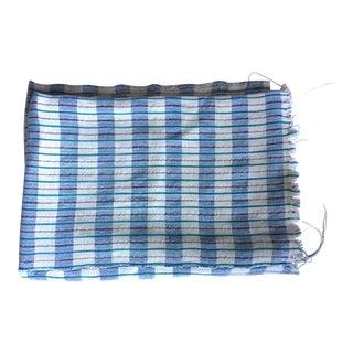 Vintage African Striped Metallic Thread Textile