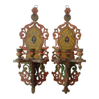 French/Persian Candle Sconces - a Pair