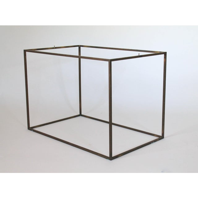 Rectangular Brass & Travertine Table - Image 7 of 11