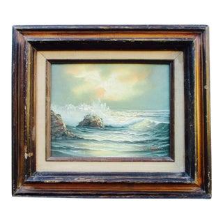 California Seascape & Sunset Painting