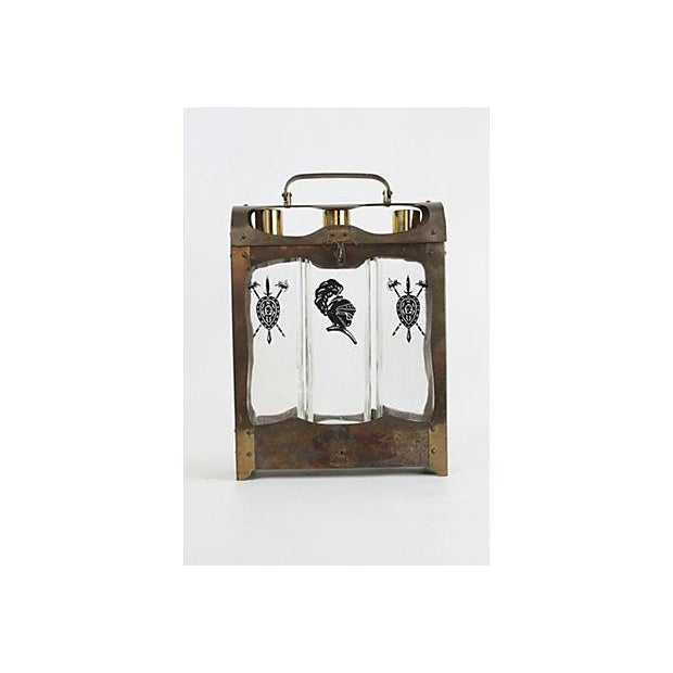 Midcentury Spanish-Style Decanter Caddy - Image 3 of 5