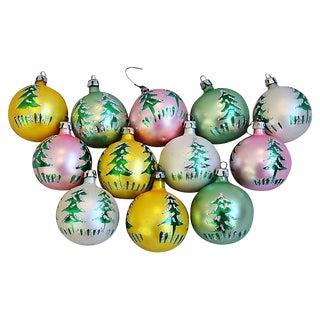 Fancy Christmas Ornaments w/Box - Set of 12