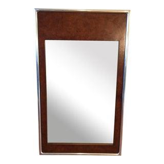 Vintage Burlwood Metal Frame Mirror