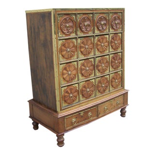 19th C East Indies Regency Campaign Apothecary Cabinet or Chest
