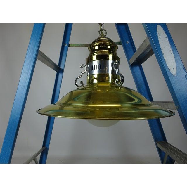 Image of Brass & Chrome Pendant Light