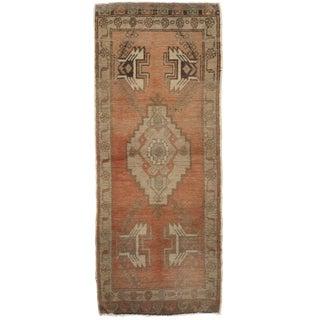 Vintage Turkish Yastik Hand Knotted Rug 1'7 x 2'11