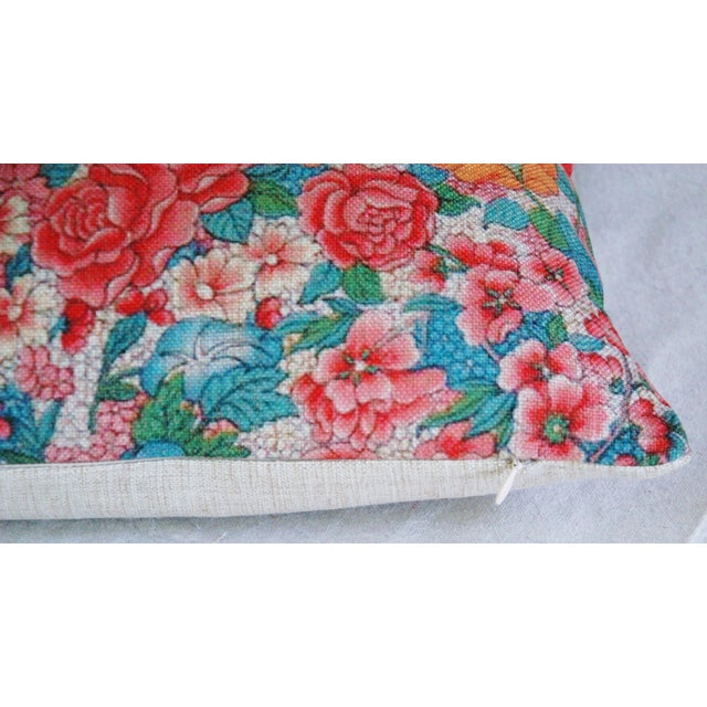 Sale! 4 Summer Floral Linen Pillow Covers - Set 4 - Image 6 of 9