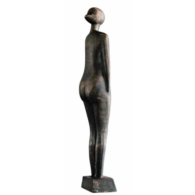 Mid-Century Abstract Bronze Sculpture - Image 5 of 6