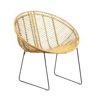 Rattan & Iron Cone Chair