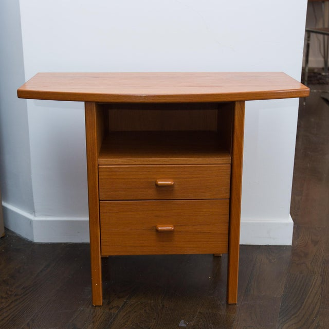 Danish Modern Teak Hall Table Chairish