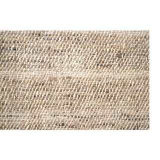 Silk Tweed Hand Spun Beige Fabric Fragment