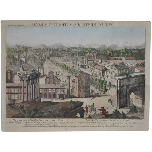 """Antique """"View of Rome"""" Engraving 19th Century - Image 1 of 11"""