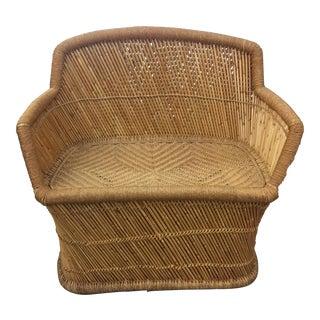 Vintage Rattan & Bamboo Settee