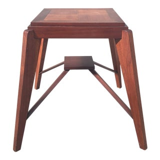 Gorgeous Squared Table in Pierre Jeanneret Style
