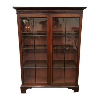 English George XI Mahogany Bookcase Cabinet