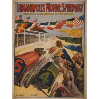 Early 1900's Indianapolis Raceway Poster