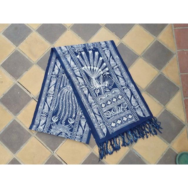 Hill Tribe Hand Batik Table Runner - Image 2 of 5