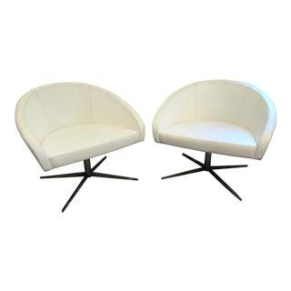 Haworth White Collaborate Chairs - A Pair