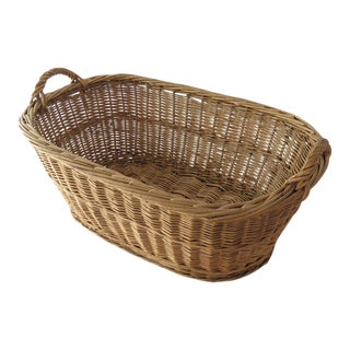 Vintage Oval Basket