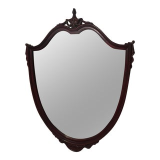 Antique Mahogany Shield Mirror